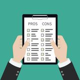 Pros and cons list royalty free illustration