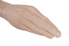Hand prosthesis for fisting close up Stock Images