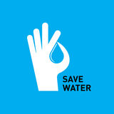 Hand protecting water  creative  Royalty Free Stock Photos
