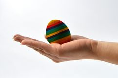 Hand that protects an egg Royalty Free Stock Photo