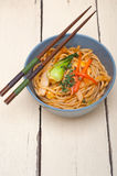 Hand pulled ramen noodles Royalty Free Stock Photos
