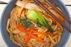 Hand pulled ramen noodles Stock Photos