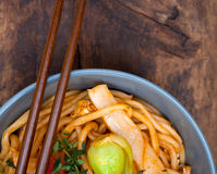 Hand pulled ramen noodles Royalty Free Stock Photo