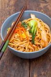 Hand pulled ramen noodles Stock Images