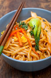 Hand pulled ramen noodles Royalty Free Stock Image