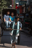 Hand pulled rickshaw Royalty Free Stock Photos