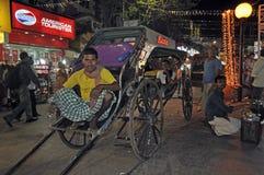 Hand pulled rickshaw Royalty Free Stock Image