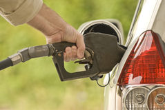 Hand Pumping Gasoline 2 Stock Photography