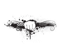 Hand punch. Grunge hand punch with urban background, illustration Royalty Free Stock Photography