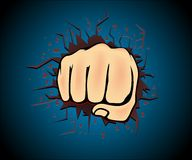 Hand punch art vector. Right Hand punch vector art design stock photo graphic illus Royalty Free Stock Photos
