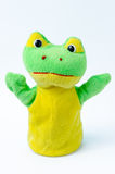 Hand puppet of frog Stock Photo
