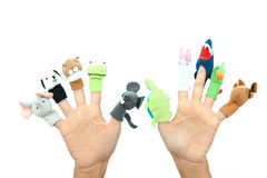 Hand puppets Royalty Free Stock Photos