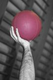 Hand and Purple Ball Royalty Free Stock Photo