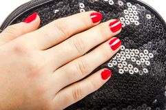 Hand and purse Royalty Free Stock Photography