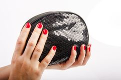 Hand and purse Royalty Free Stock Image