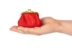 Hand with purse stock images
