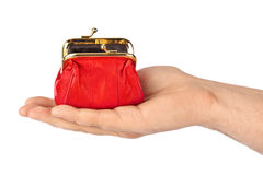 Hand with purse Stock Photos