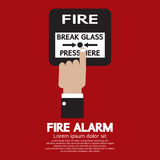 Hand Push Fire Alarm Button. Vector Illustration Royalty Free Stock Image