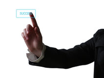 Hand pushing button Royalty Free Stock Photo