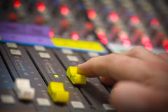 Sound mixing Stock Images