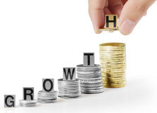 Hand Put Coin To Money Royalty Free Stock Photo