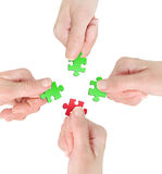 Hand with puzzle Royalty Free Stock Photo