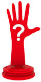 Hand with question mark Stock Photo
