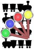 Hand rail semaphore. Stock Image