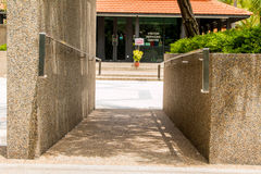 Hand on railing Stock Photography