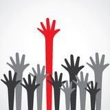 Hand raise up. Stock vector Royalty Free Stock Photography