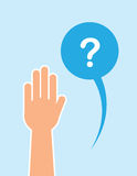 Hand Raised Question Bubble Royalty Free Stock Photo