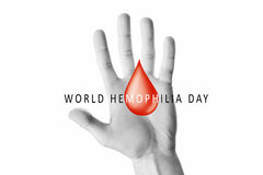 Hand raised up palm open. World hemophilia day, hand raised up palm open  on white background, youth solidarity concept Royalty Free Stock Images