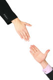 Hand reaches for your hand Royalty Free Stock Photo