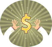 Hand Reaching Dollar Royalty Free Stock Image