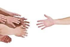 Hand Reaching For Help Stock Photos