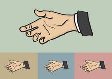 Hand Reaching for Handshake Vector Illustration Stock Images