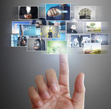 Hand reaching images streaming from the deep Royalty Free Stock Photo