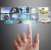 Hand reaching images streaming from the deep Stock Images