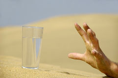 Hand reaching for water. Stock Image