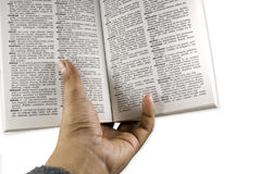 Hand Read Book Royalty Free Stock Image