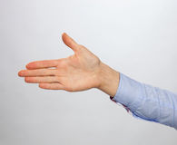Hand ready for friendly handshake Stock Image