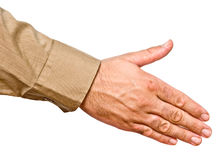 Hand ready for handshake Stock Photos