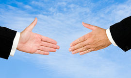 Hand ready for handshake Stock Images