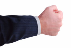Hand ready to hold anything inside. Businessman hand ready to hold anything inside Stock Photography