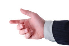 Hand ready to hold anything inside. Businessman hand ready to hold anything inside Stock Images