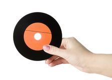 Hand with a record album Royalty Free Stock Photos