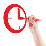 Hand and Red watches Royalty Free Stock Images
