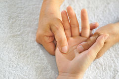 Hand Reflexology Series 1 Stock Photo