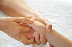 Hand Reflexology Series 3 Stock Photography