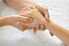 Hand Reflexology Series 4 Royalty Free Stock Photography